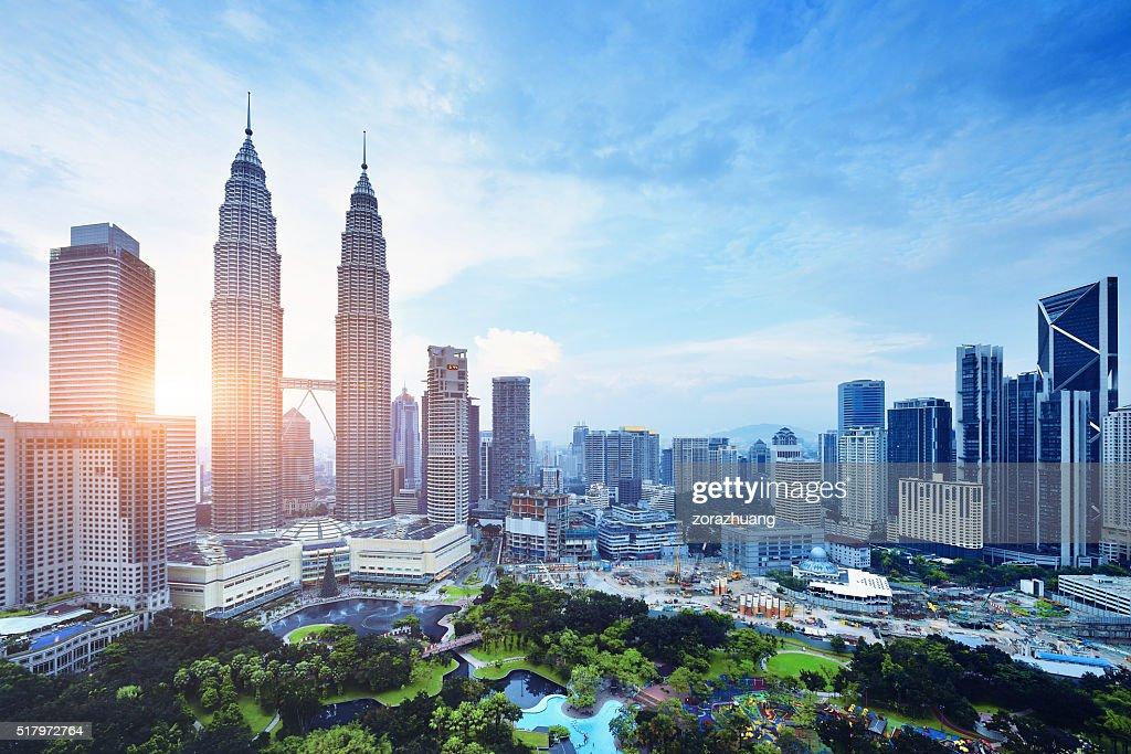 Cena urbana de Kuala Lumpur, Malásia : Foto de stock