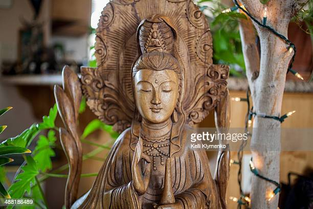 kuan yin in the kitchen - guanyin bodhisattva stock pictures, royalty-free photos & images