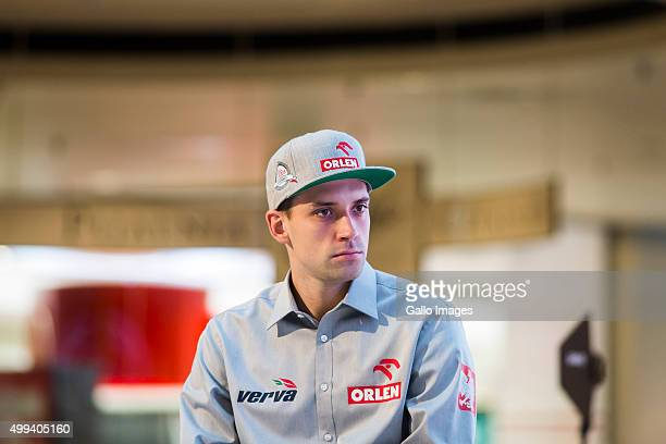 Kuba Piatek attends the ORLEN Team press conference on November 30 2015 in Warsaw Poland ORLEN Team will be taking part in the 2016 Dakar Rally