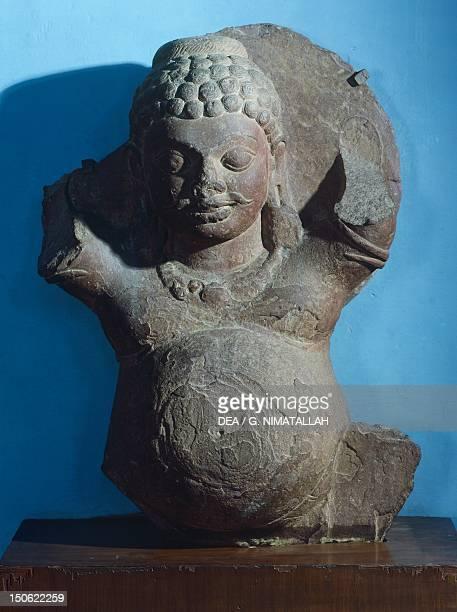Kubera the god of wealth statue from Kankalitila Mathura India Indian Civilisation Kushan Empire 3rd century