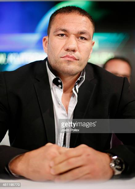 Kubrat Pulev of Bulgaria is pictured during a press conference ahead of the upcoming heavyweight boxing title fight between Wladimir Klitschko of...