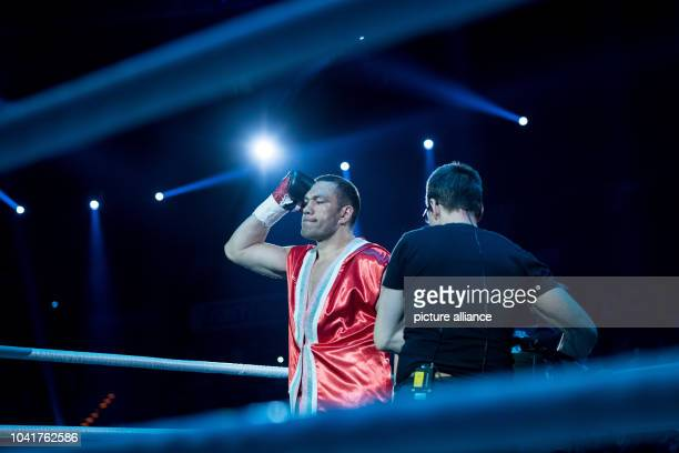 Kubrat Pulev of Bulgaria is presented prior to his European Heavyweight Championship boxing match against Dereck Chisora of Britain in Hamburg...