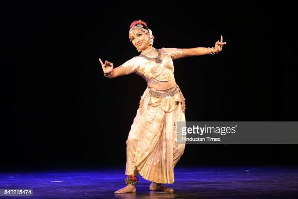 Kuchipudi dance artist Bhavana Reddy during a classical dance performance by her based on the story of Satyabhama one of Lord Krishna's wives on...
