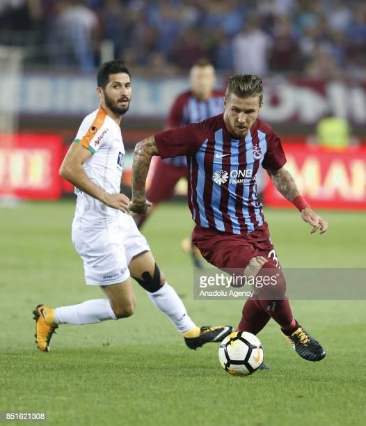 Kucka of Trabzonspor in action during the Turkish Super Lig week 6 soccer match between Trabzonspor and Aytemiz Alanyaspor at Medical Park Stadium in...