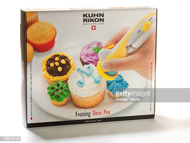 Kuhn Rikon's batteryoperated Frosting Deco Pen looks like a contraption straight out of the Jetsons' kitchen Ditch that old frosting bag for more fun...