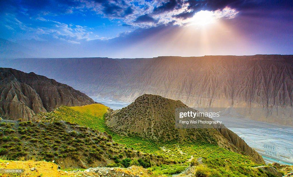 Kuitun Grand Canyon : Stock Photo