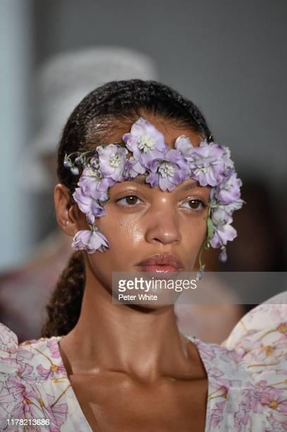 Kukua Williams, fashion detail, walks the runway during the Giambattista Valli Womenswear Spring/Summer 2020 show as part of Paris Fashion Week on...