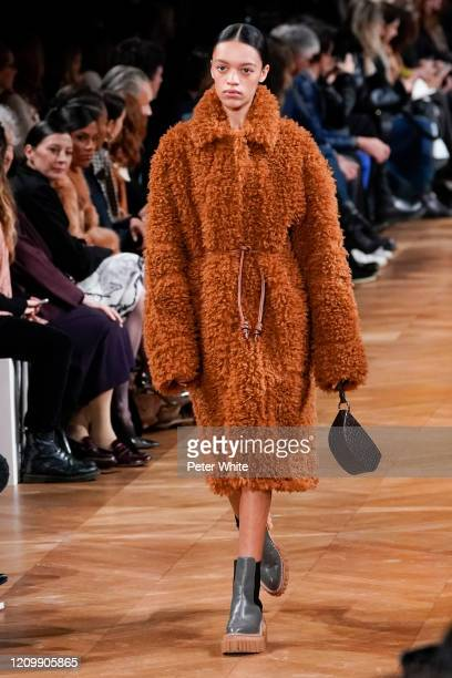 Kukua Williams walks the runway during the Stella McCartney as part of the Paris Fashion Week Womenswear Fall/Winter 2020/2021 on March 02, 2020 in...