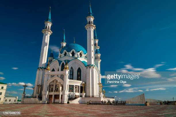 kul sharif mosque (qol sharif mosque) in kazan. russia - religious service stock pictures, royalty-free photos & images