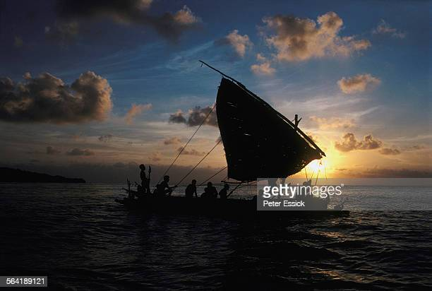 kula canoe - papua new guinea stock pictures, royalty-free photos & images