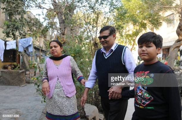 Kuldeep Singh the hero of the 2005 Delhi serial blasts in which 60 people were killed and 200 injured at his house in Shadipur on February 16 2017 in...
