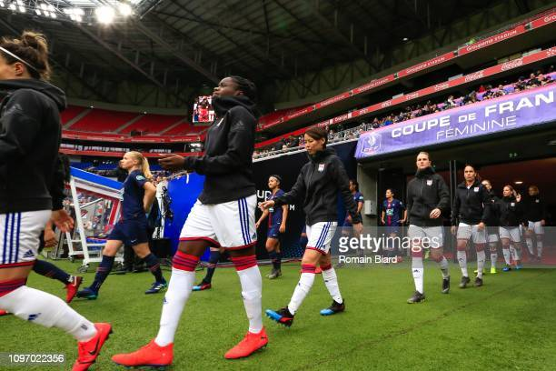 Kumagai Saki of Lyon during the Women's French Cup match between Lyon and Paris Saint Germain at Groupama Stadium on February 9 2019 in Lyon France