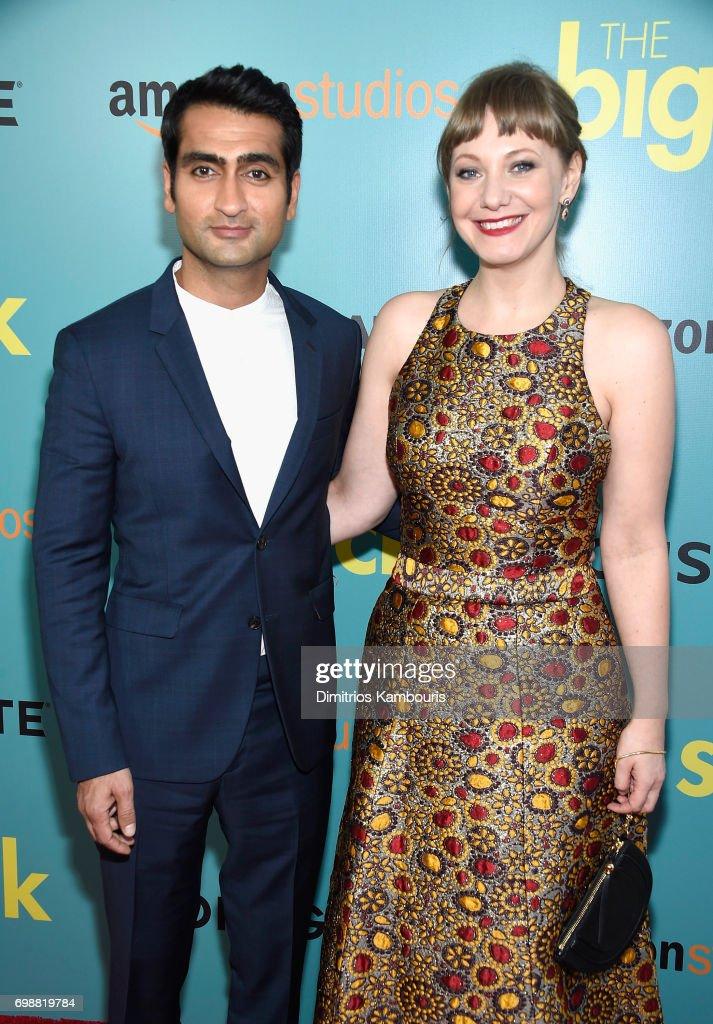 Kumail Nanjiani and Emily V. Gordon attend 'The Big Sick' New York Premiere at The Landmark Sunshine Theater on June 20, 2017 in New York City.