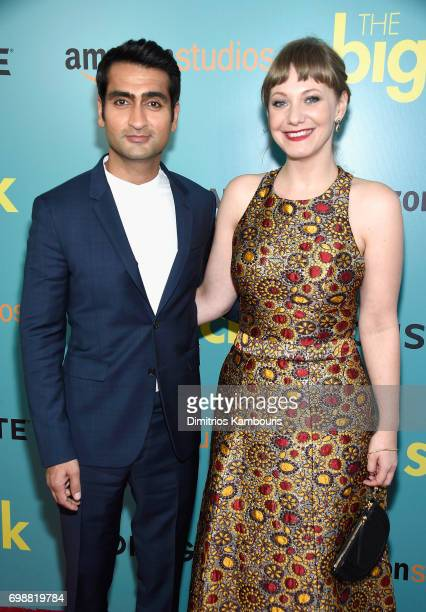 Kumail Nanjiani and Emily V Gordon attend 'The Big Sick' New York Premiere at The Landmark Sunshine Theater on June 20 2017 in New York City