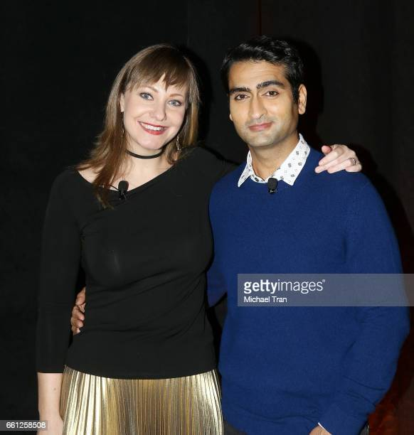 Kumail Nanjiani and Emily V Gordon attend the CinemaCon 2017 Amazon Studios Delivering The Best In Independent Cinema held at Octavius Ballroom at...