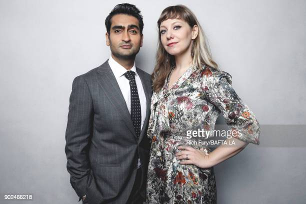 Kumail Nanjiani and Emily V Gordon pose for a portrait at the BAFTA Los Angeles Tea Party on January 6 2018 in Beverly Hills California