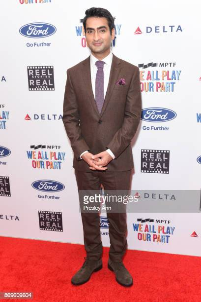 Kumail Nanjiani attends 6th Annual Reel Stories Real Lives Benefiting MPTF Arrivals at Milk Studios on November 2 2017 in Hollywood California