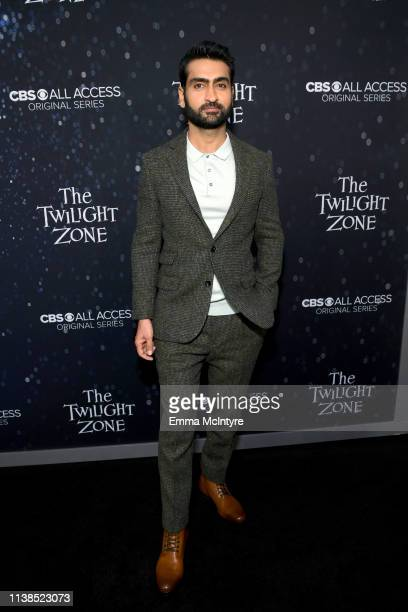 Kumail Nanjiani attends CBS All Access new series The Twilight Zone premiere at the Harmony Gold Preview House and Theater on March 26 2019 in...