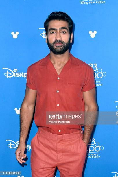 Kumail Nanjiani attends Go Behind The Scenes with Walt Disney Studios during D23 Expo 2019 at Anaheim Convention Center on August 24, 2019 in...