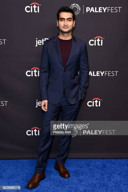 Kumail Nanjiani attends PaleyFest Los Angeles 2018 'Silicon Valley' at Dolby Theatre on March 18 2018 in Hollywood California