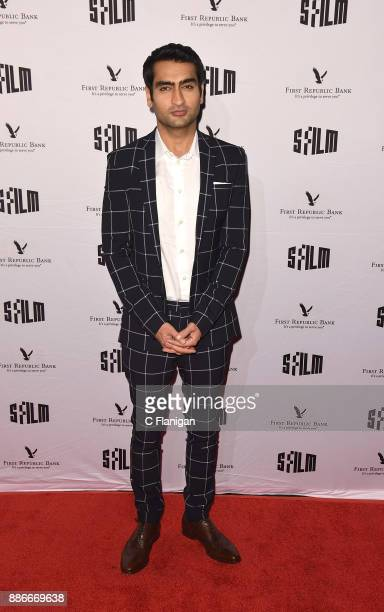 Kumail Nanjiani attends SFFILM's 60th Anniversary Awards Night at Palace of Fine Arts Theatre on December 5 2017 in San Francisco California
