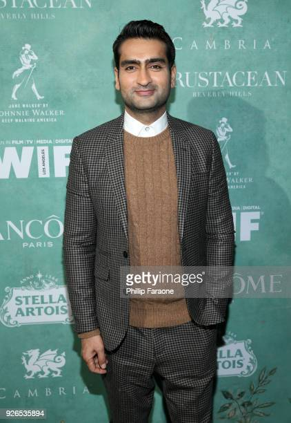 Kumail Nanjiani attends the 11th annual celebration of the 2018 female Oscar nominees presented by Women in Film at Crustacean on March 2, 2018 in...