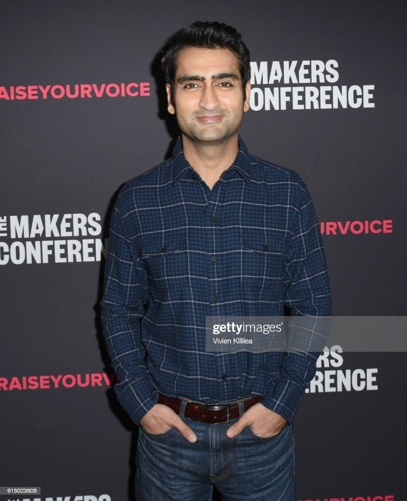 Kumail Nanjiani attends The 2018 MAKERS Conference at NeueHouse Hollywood on February 6, 2018 in Los Angeles, California.