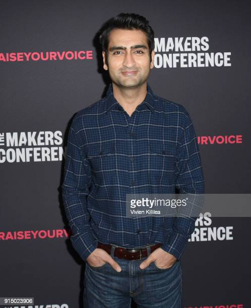 Kumail Nanjiani attends The 2018 MAKERS Conference at NeueHouse Hollywood on February 6 2018 in Los Angeles California