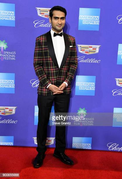 Kumail Nanjiani attends the 29th Annual Palm Springs International Film Festival Awards Gala at Palm Springs Convention Center on January 2 2018 in...