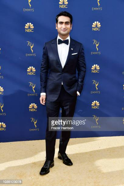 Kumail Nanjiani attends the 70th Emmy Awards at Microsoft Theater on September 17 2018 in Los Angeles California