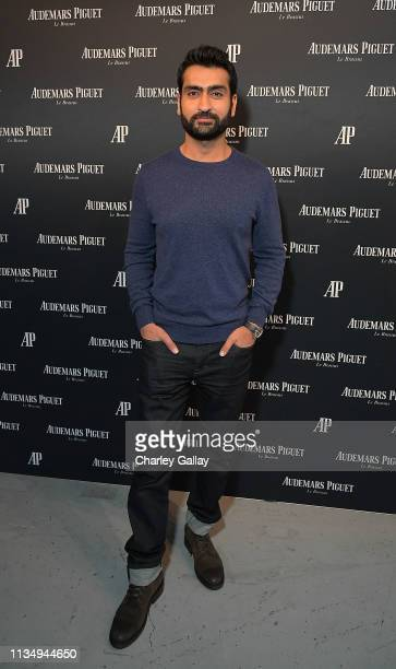 Kumail Nanjiani attends the Code 1159 By Audemars Piguet Los Angeles Launch at American Cement Building on April 4 2019 in Los Angeles California