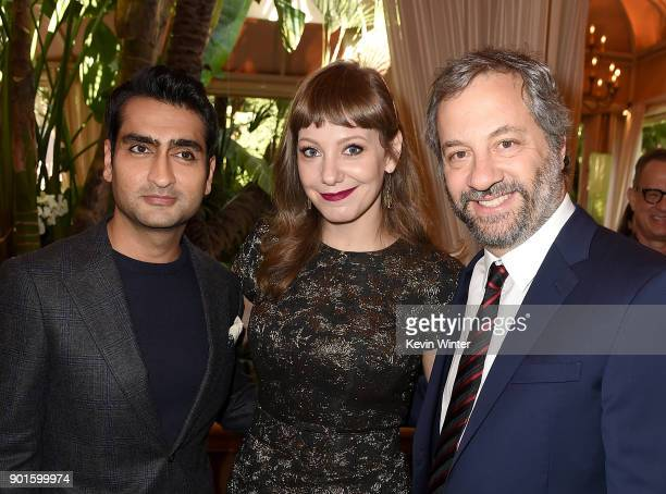Kumail Nanjiani Emily V Gordon and Judd Apatow attend the 18th Annual AFI Awards at Four Seasons Hotel Los Angeles at Beverly Hills on January 5 2018...