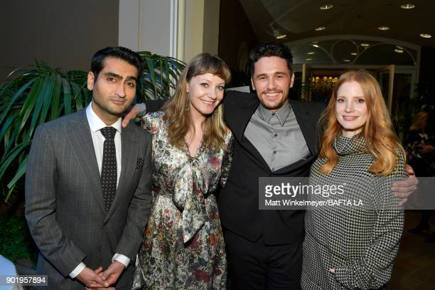 Kumail Nanjiani Emily V Gordon James Franco and Jessica Chastain attends The BAFTA Los Angeles Tea Party at Four Seasons Hotel Los Angeles at Beverly...