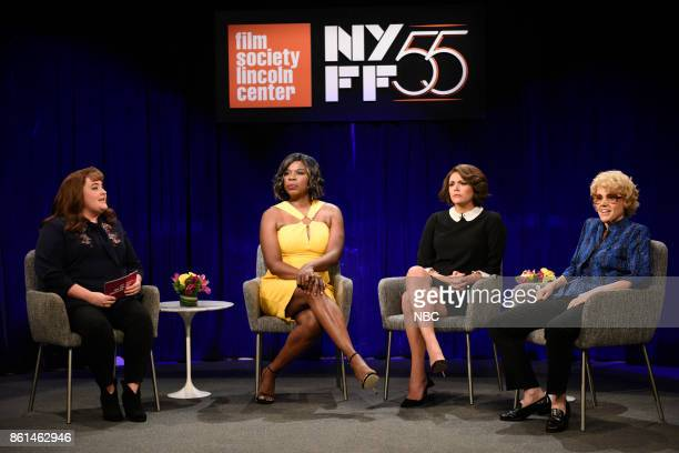 LIVE 'Kumail Nanjiani' Episode 1728 Pictured Aidy Bryant Leslie Jones as Viola Davis Cecily Strong Marion Cotillard Kate McKinnon as Debette Goldry...
