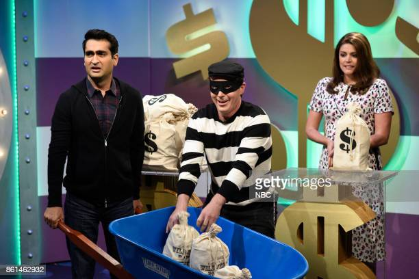 LIVE Kumail Nanjiani Episode 1728 Pictured Kumail Nanjiani as Contestant Paul Beck Bennett as The Robber Cecily Strong as Contestant Gretchen during...
