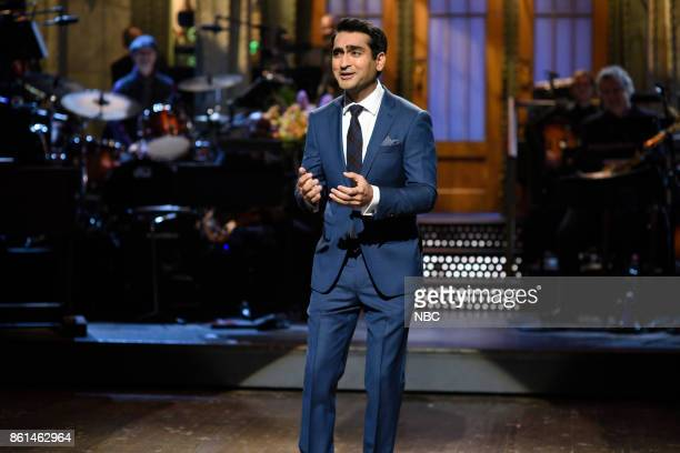 LIVE 'Kumail Nanjiani' Episode 1728 Pictured Kumail Nanjiani during the opening monologue in Studio 8H on Saturday October 14 2017