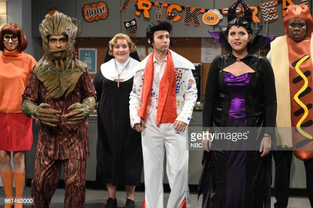 LIVE 'Kumail Nanjiani' Episode 1728 Pictured Melissa Villaseñor as Velma Kumail Nanjiani as Groot Aidy Bryant as Sarah Kyle Mooney as Elvis Cecily...