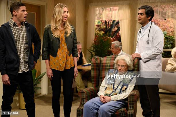 LIVE Kumail Nanjiani Episode 1728 Pictured Mikey Day Heidi Gardner as Ms Connor Kate McKinnon as Maureen Kumail Nanjiani during Nursing Home in...