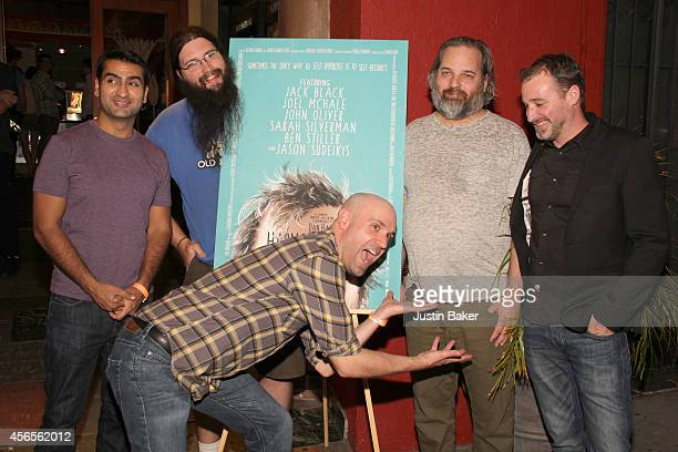 Kumail Nanjiani Spencer Crittenden Rob Schrab Dan Harmon and Neil Berkeley attend the Harmontown Los Angeles special screening at the Vista Theatre...