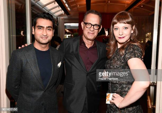 Kumail Nanjiani Tom Hanks and Emily V Gordon attend the 18th Annual AFI Awards at Four Seasons Hotel Los Angeles at Beverly Hills on January 5 2018...