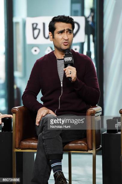 Kumail Nanjiani visits the Build Series to discuss the animated film The LEGO Ninjago Movie at Build Studio on September 21 2017 in New York City