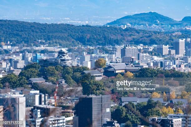 Kumamoto castle and Kumamoto city in Japan
