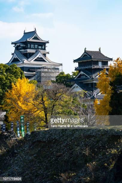 Kumamoto Castle in Kumamoto city in Japan in Autumn