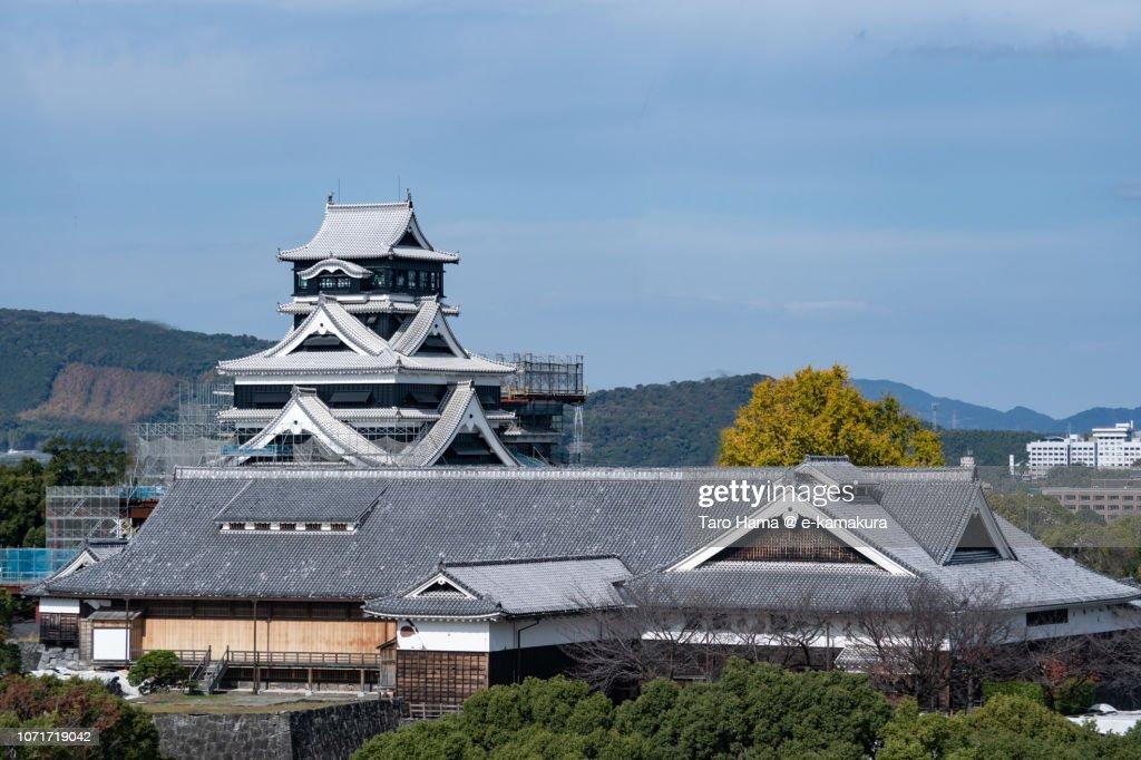 Kumamoto Castle in Kumamoto city in Japan : Stock Photo