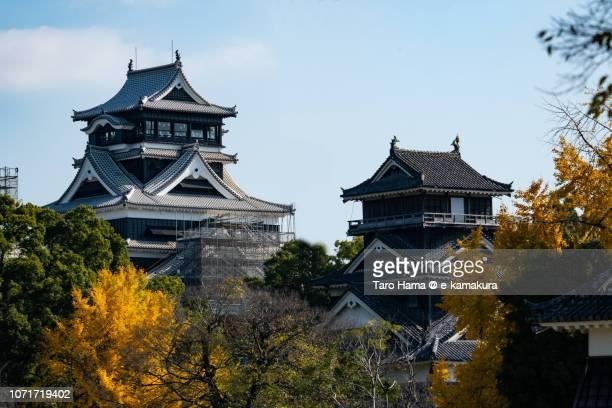 Kumamoto Castle in Kumamoto city in Kumamoto prefecture in Japan in Autumn