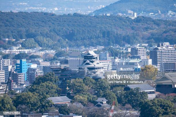 Kumamoto Castle in the center of Kumamoto city in Japan