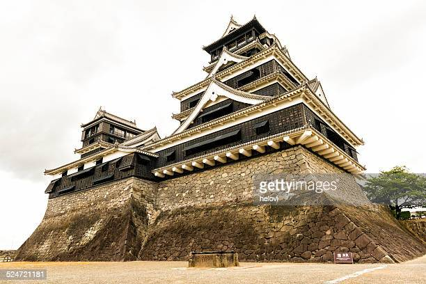 kumamoto castle japan - kumamoto prefecture stock pictures, royalty-free photos & images
