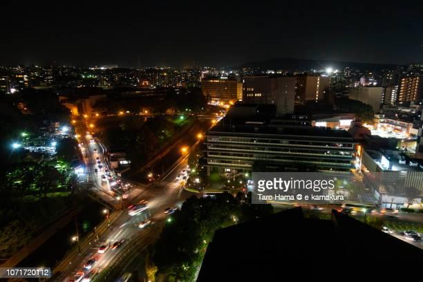 Kumamoto city in Japan in the night