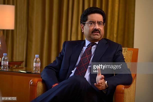 Kumar Mangalam Birla, Chairman of the Aditya Birla Group, speaks during an interview on May 3, 2015 in Mumbai, India.