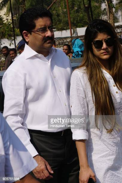 Kumar Mangalam Birla Indian industrialist and the chairman of the Aditya Birla Group and his daughter Ananya Birla comes out of celebration club...